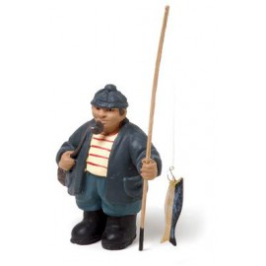 Miniatura Decoración Pescador Caña