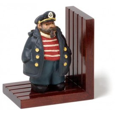 Sujeta Libros Capitán De Madera