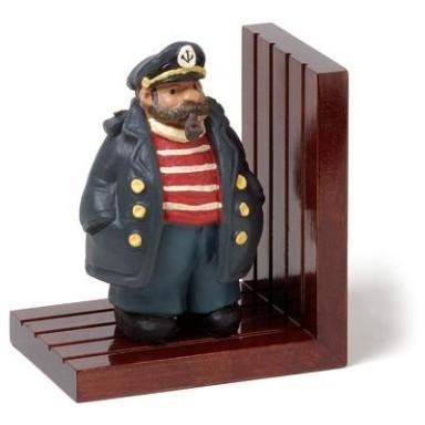 Sujeta Libros Capitán de Madera (1u)