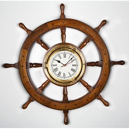 Reloj Timón Decoración Náutica