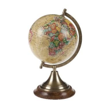 Bola Mundo Antigua Decoración Náutica (1u)