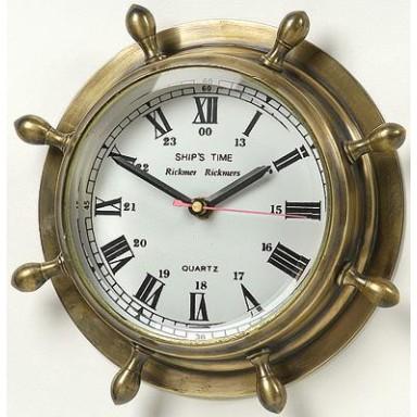 Reloj Marino Latón Decoración Náutica