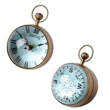 Reloj Marino Cristal Decoración Náutica (1u)