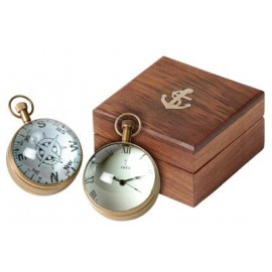 Reloj de Bola Pequeña Decoración Náutica (1u)