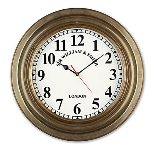 Reloj Antiguo Latón Decoración Náutica