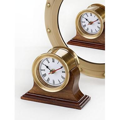 Reloj Doble Latón Decoración Náutica