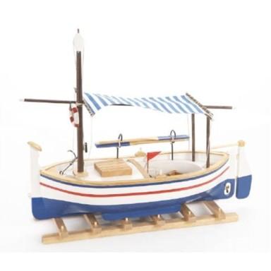 Barca Con Toldo Decoración Náutica