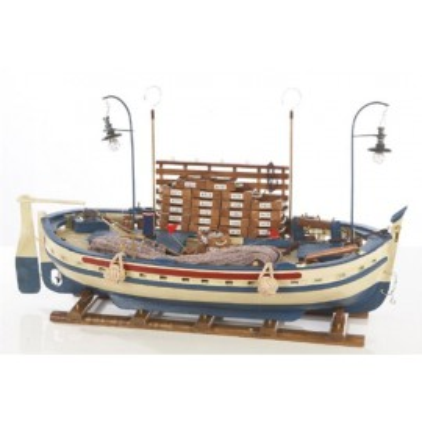 Barca Pesquera de Decoración Náutica (1u)
