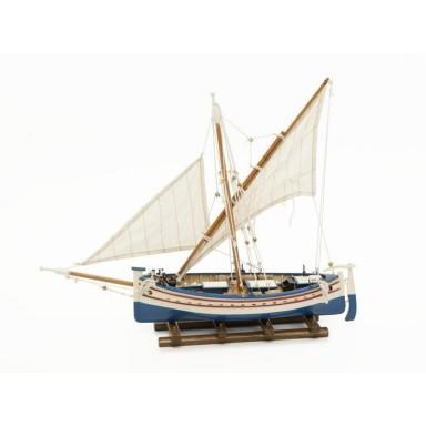 Barca Dos Velas Latinas Decoración Náutica (1u)