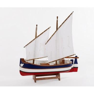 Barca Madera Rayas Decoración Náutica (1u)