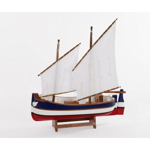 Barca Madera Rayas Decoración Náutica