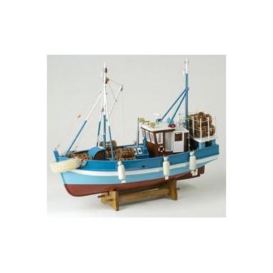 Pesquero Antiguo Azul Decoración