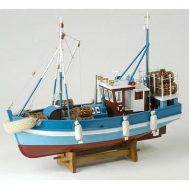 Barco de Pesca Antiguo Azul (1u)
