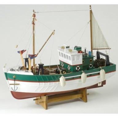 Barco de Pesca Antiguo Verde (1u)