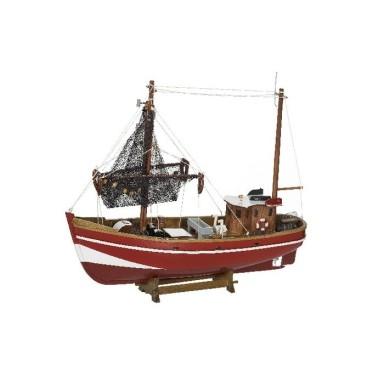 Barco De Pesca Antiguo Rojo