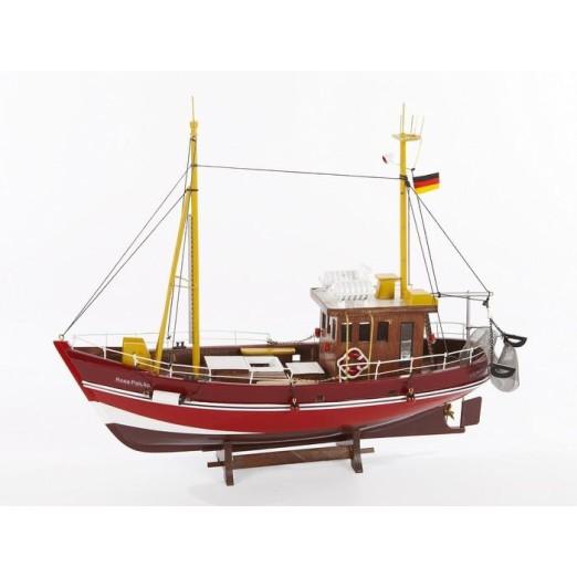 Barco Morado y Rojo Decoración Náutica