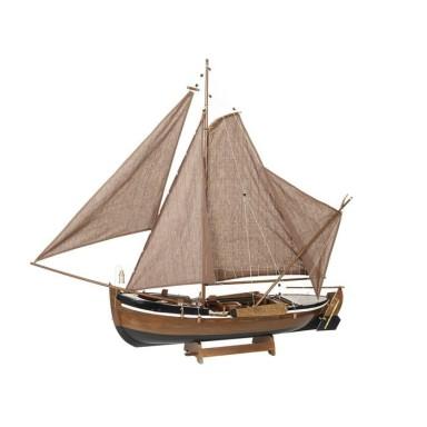 Barco Madera Clara Decoración (1u)