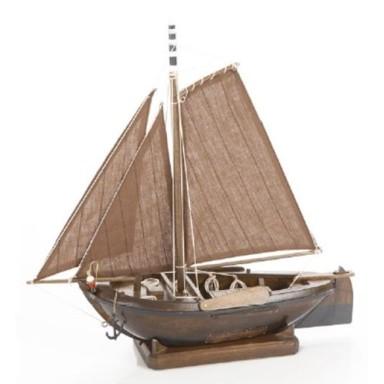Barco Madera Oscura Decoración