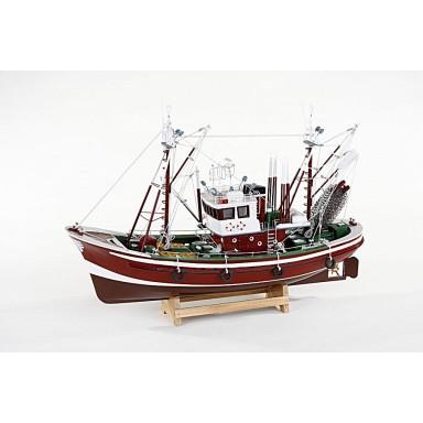 Barca Decoración Náutica Rojo Oscuro (1u)