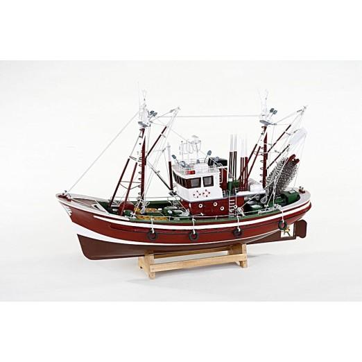 Barca Decoración Náutica Rojo Oscuro