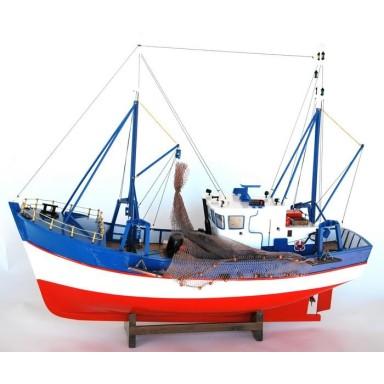 Barca Antigua Decoración Rayas Azules (1u)