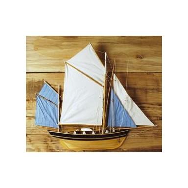 Pesquero Decoración Náutica Medio Casco