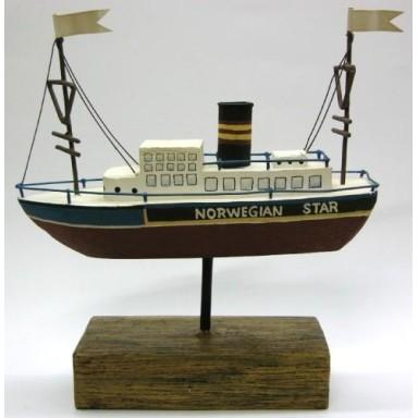Barco Noruego Vapor Decoración Náutica