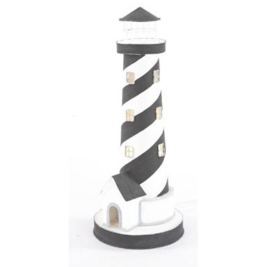 Faro Decoración con Luz Espiral Blanco