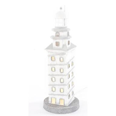 Faro Decoración con Luz Hojalata Torre