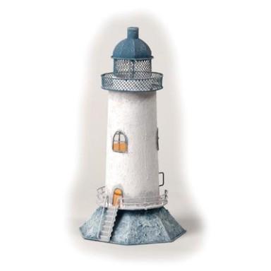 Faro Decoración con Luz Azul Claro