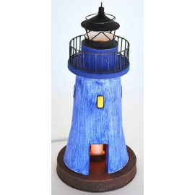 Faro Decoración con Luz Azul Castiglione