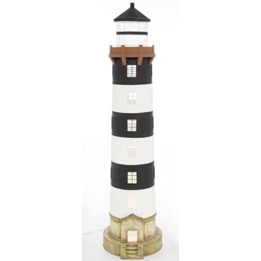 Faro Decoración con Luz Base Gris