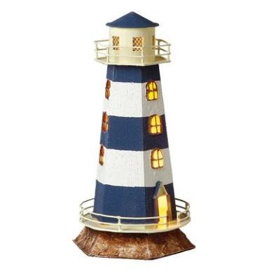 Faro Decoración con Luz Hexagonal Azul