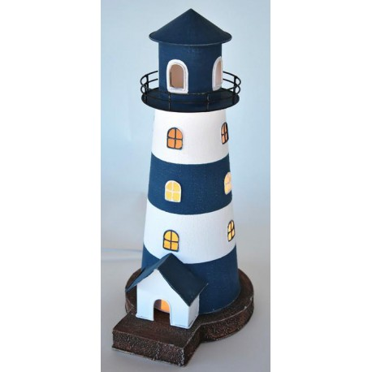 Faro Decoración con Luz Torre Azul