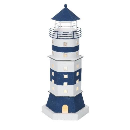 Faro Decoración con Luz Torre Blanca
