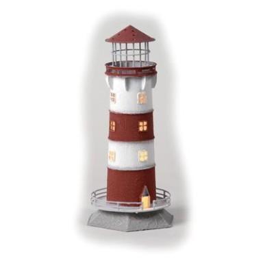 Faro Decoración con Luz Blancas Rayas