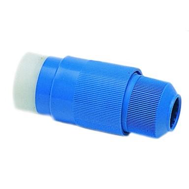 Conector Tripolar 220V Azul