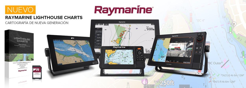 Carta Raymarine Lighthouse Equipos Axiom y Element